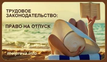 Трудовой кодекс РФ подразделяет отпуска на следующие виды: