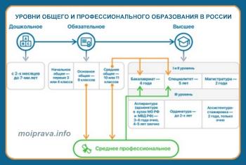 Структура системы образования раскрывается в ч. 1 статьи 10 «Структура системы образования» Федерального закона № 273-ФЗ «Об образовании в РФ» и включает в себя: